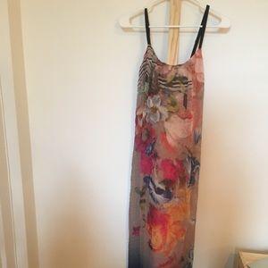 NWOT Cynthia Vincent Twelfth Street silk maxi